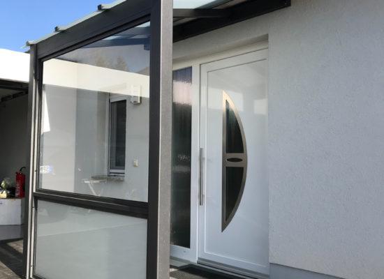ALU-Vordach mit VSG, modern, Grau, Cottbus