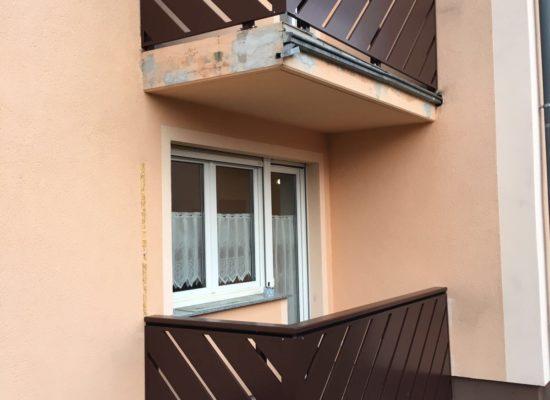 ALU-Balkongeländer in Wittichenau, Mehrfamilienhaus