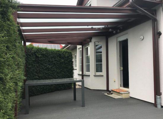 Terrassenüberdachung Maßanfertigung aus eigener Produktion