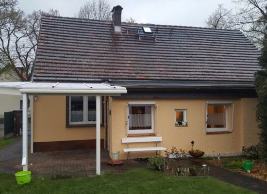 Vordach im Spreewald, Weiß, Alu, Polycarbonatplatten