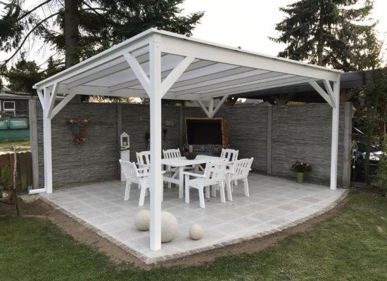 Terrassendach als Pavillon freistehend