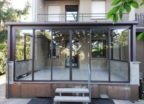 OLE-fix Terrassendach aus Klarglas und Aluminium