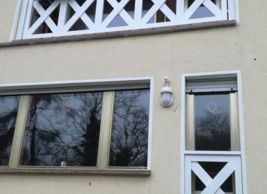 ALU-Geländer geschweißte Kreuze und Blumenkästen aus ALU, Senftenberg