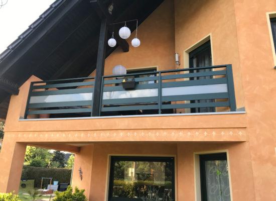 ALU-Geländer mit Glas in Lübbenau