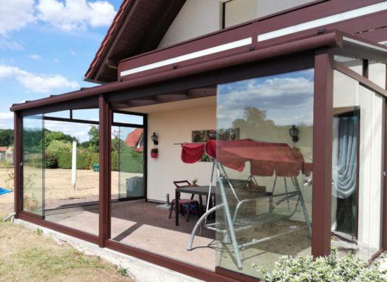 OLE-fix Tarrassenüberdachung Aluminium OLE-fix Tarrassenüberdachung & rahmenlose Glas-Schiebeelemente