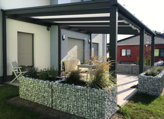 Terrassendach mit Erker-Einbindung