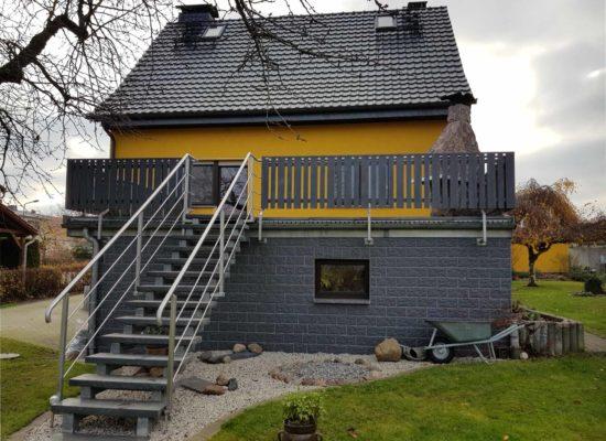 Geländer für Terrasse und Treppe