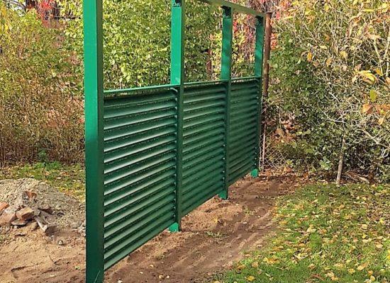ALU-Sichtschutz im Spreewald/ Landhaus