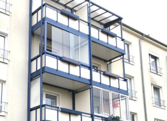 OLEfix Balkonverglasung an einer Mietwohnung