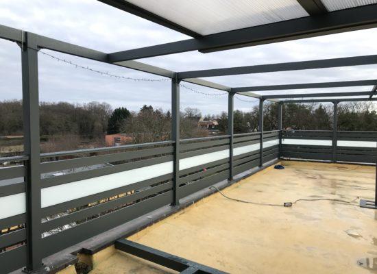 Aluminium-Geländer für die Dachterrasse