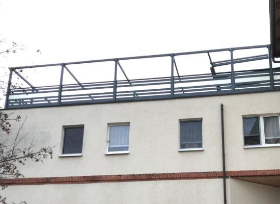 ALU-Geländer für eine große Dachterrasse
