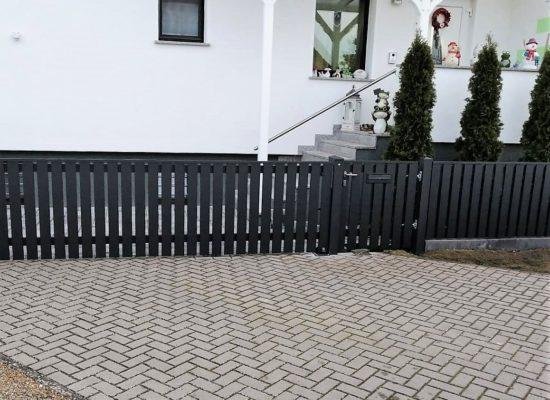 Alu-Zaun, Neu Schnell Polen günstig Schnäppchen, Spreewald
