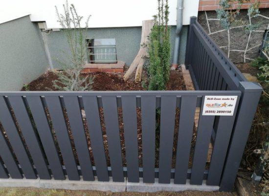 Ein neuer ALU-Zaun kann auch ein dekoratives Element sein.