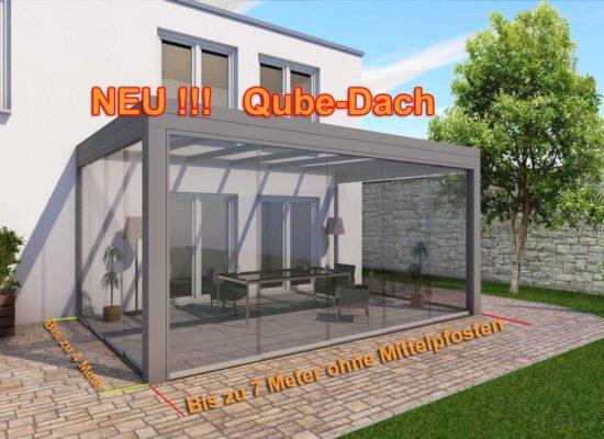 Das Qube-Dach, ohne sichtbare Dachneigung