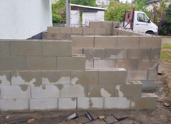 Schalsteinmauer Hochterrasse