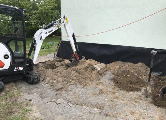 Start Baustelle Hochterrasse in Cottbus.