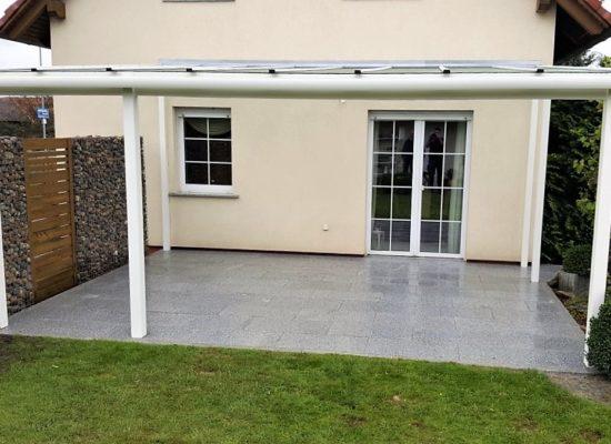Kombinierter Auftrag: Terrassenbau und Terrassendach