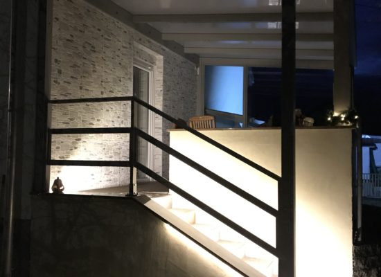 Terrasse mit LED-Beleuchtung