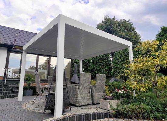 Qube Lamellendach, Weiß, Gartenteich, schnell gebaut und günstig, Cottbus