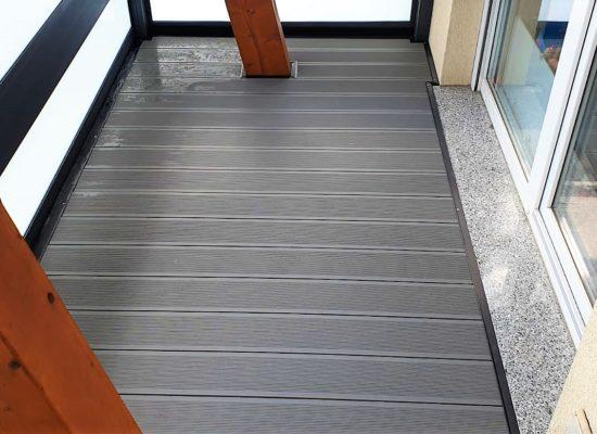 WPC-Fussboden auf Balkon
