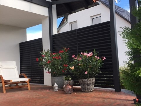 ALU-Sichtschutz, anthrazit, modern, super Qualität