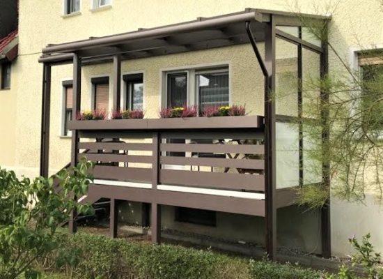 ALU-Balkon Konstruktion pulverbeschichtet