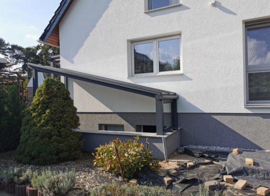 Kellerüberdachung mit Polyplatten, schräg, Kolkwitz