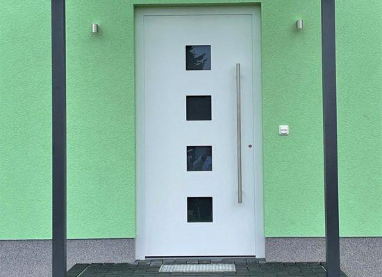 Vordach modern, Anthrazit, VSG Klar, Optik zeitlos