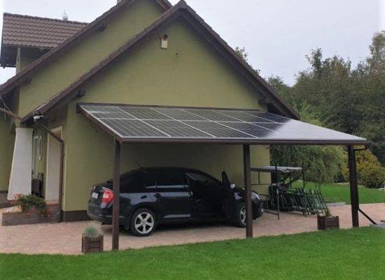 Einzelcarport ALU-Gestell mit Solarplatten