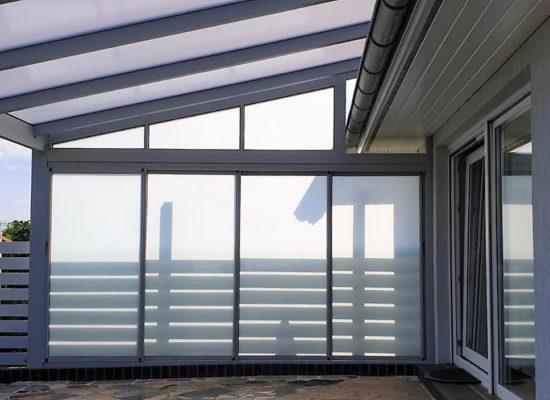 Glasschiebewand als Sicht- & Sonnenschutz, Guben Eisenhüttenstadt