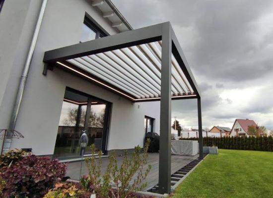 Lamellendach mit LED Beleuchtung in Cottbus